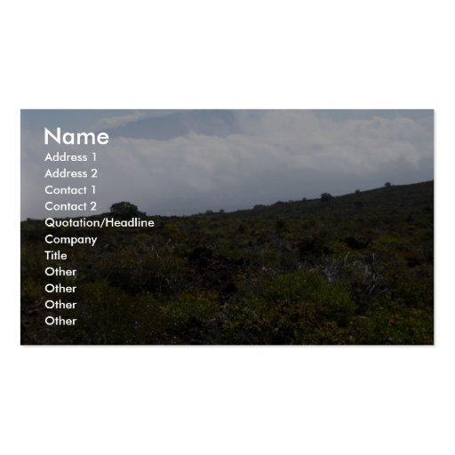 Mauna Loa From The Summit Of Hualalai Volcano, Kon Business Cards