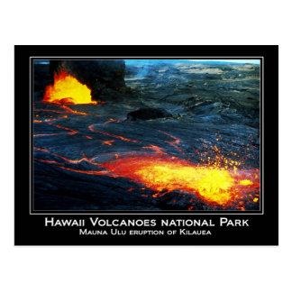 Mauna Ulu eruption of Kilauea Volcano in Hawaii Postcard