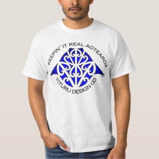 Maunga Tee or Hoodie - Blue on White