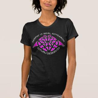 Maunga Tee or Hoodie - Pink on Black