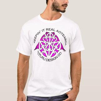 Maunga Tee or Hoodie - Pink on White