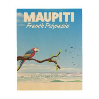 Maupiti French polynesia travel poster