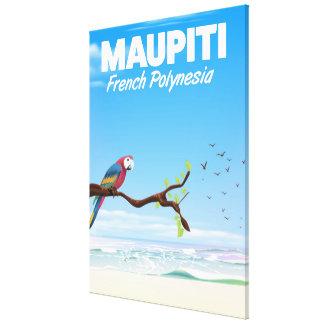Maupiti French polynesia travel poster Canvas Print