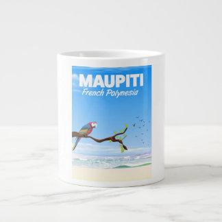 Maupiti French polynesia travel poster Large Coffee Mug