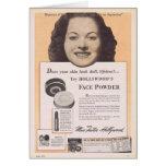 Maureen O'Hara vintage face powder ad Cards