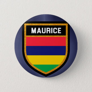Maurice Flag 6 Cm Round Badge