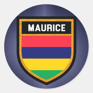 Maurice Flag Classic Round Sticker