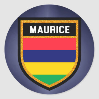 Maurice Flag Round Sticker