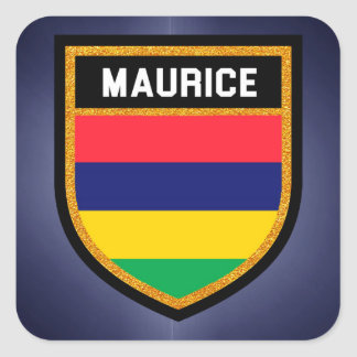 Maurice Flag Square Sticker