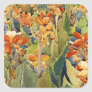 Maurice Prendergast Bed Of Flowers Square Sticker