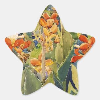 Maurice Prendergast Bed Of Flowers Star Sticker