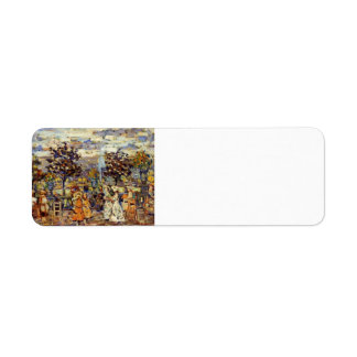 Maurice Prendergast- In the Luxembourg Gardens Return Address Label