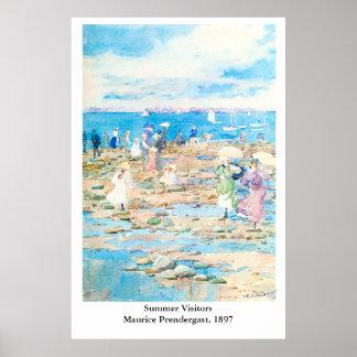 Maurice Prendergast's Summer Visitors Poster