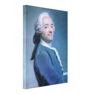Maurice Quentin de La Tour - self-portrait Gallery Wrapped Canvas