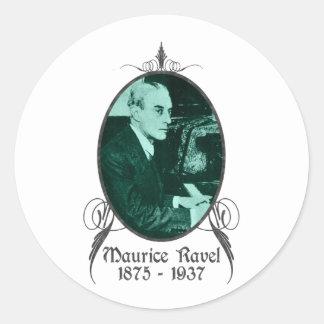 Maurice Ravel Round Sticker