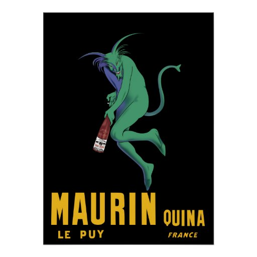 Maurin Quina Absinthe French Advertising Poster