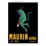 Maurin Quina - Cappiello 1906 - Absinthe Apertif Greeting Card