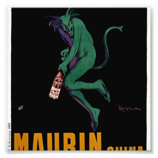 Maurin Quina Green Devil by Cappiello Photo Print
