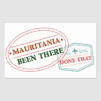 Mauritania Been There Done That Rectangular Sticker