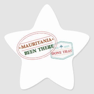 Mauritania Been There Done That Star Sticker