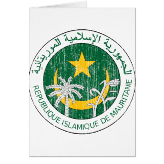 Mauritania Coat Of Arms Card
