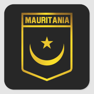 Mauritania Emblem Square Sticker