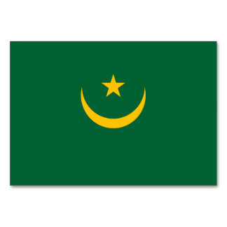 Mauritania Flag Card