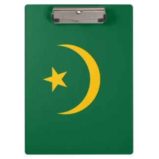 Mauritania Flag Clipboard