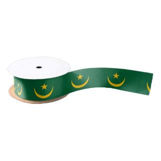 Mauritania Flag Satin Ribbon