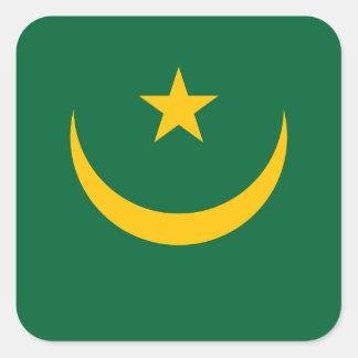 Mauritania Flag Square Sticker