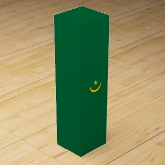 Mauritania Flag Wine Box