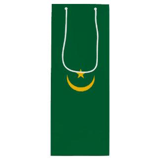 Mauritania Flag Wine Gift Bag