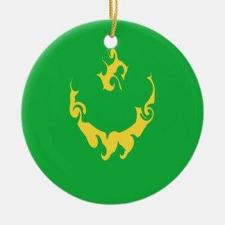 Mauritania Gnarly Flag Christmas Tree Ornament