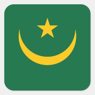 Mauritania National World Flag Square Sticker