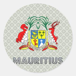 Mauritius Coat of Arms Classic Round Sticker