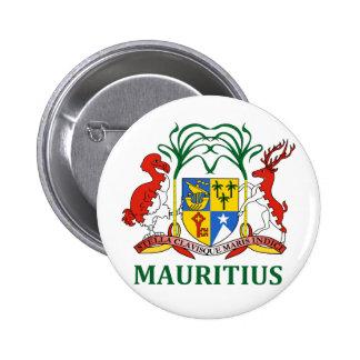mauritius - emblem/flag/coat of arms/symbol 6 cm round badge