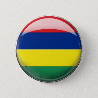 Mauritius Flag 6 Cm Round Badge