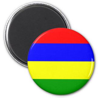 Mauritius Flag 6 Cm Round Magnet
