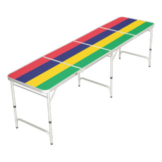 Mauritius Flag Beer Pong Table