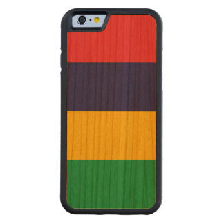 Mauritius Flag Carved Cherry iPhone 6 Bumper Case