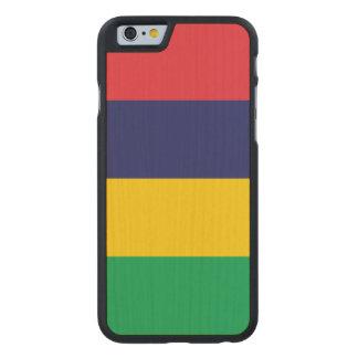 Mauritius Flag Carved Maple iPhone 6 Case