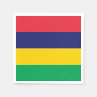 Mauritius Flag Disposable Serviette