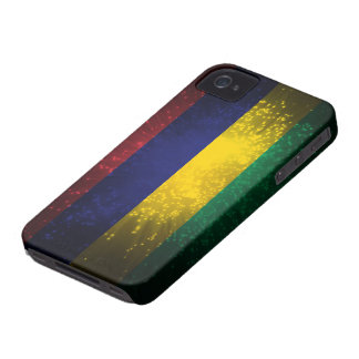 Mauritius Flag Firework iPhone 4 Case-Mate Case