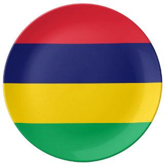Mauritius Flag Porcelain Plates