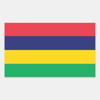 Mauritius Flag Rectangular Sticker
