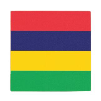 Mauritius Flag Wood Coaster
