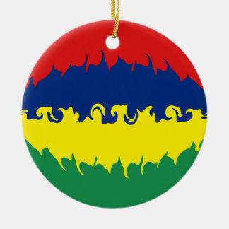 Mauritius Gnarly Flag Christmas Ornament