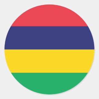 Mauritius/Mauritian Flag Classic Round Sticker