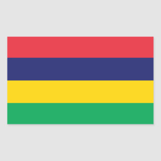 Mauritius – Mauritian Flag Rectangular Sticker