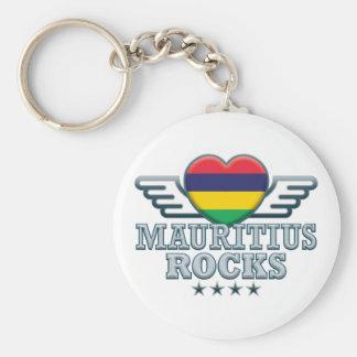 Mauritius Rocks v2 Basic Round Button Key Ring